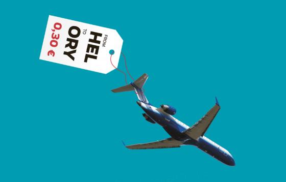 Lentokone kuvitusgrafiikassa