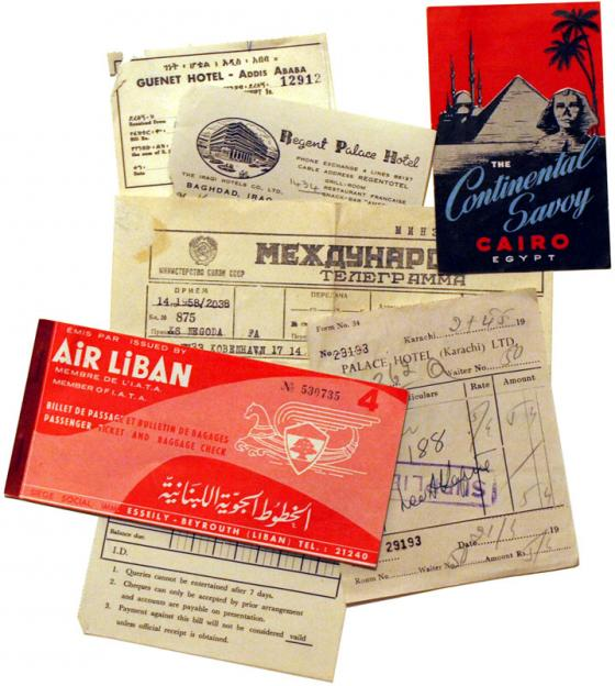 Vanhoja matkalippuja