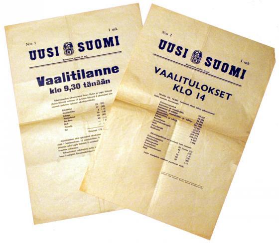 Vuoden 1945 vaalituloksia