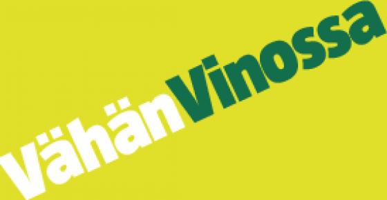 Vähän Vinossa -logo.