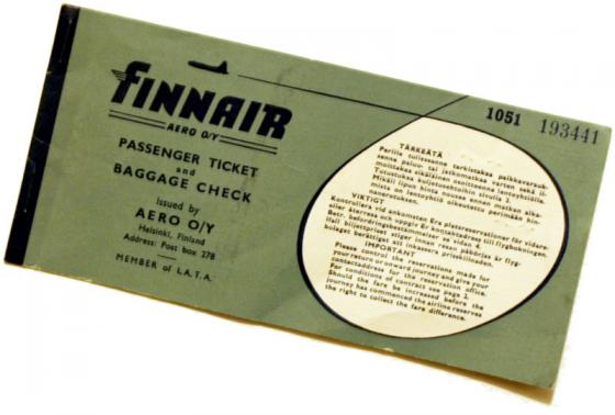 Vanha lentolippu.