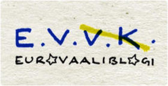 Eurovaaliblogin logo.