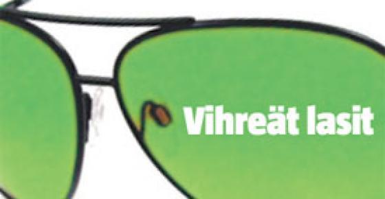 Vihreät lasit.
