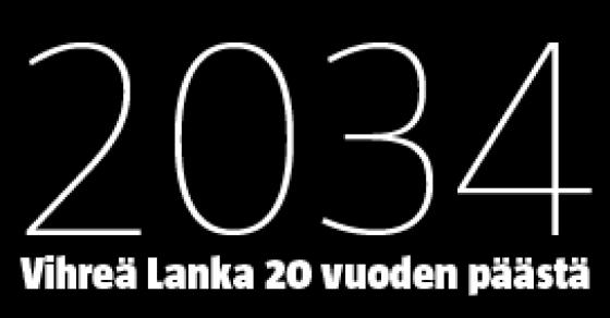 Vihreä Lanka 20 vuoden päästä -logo.