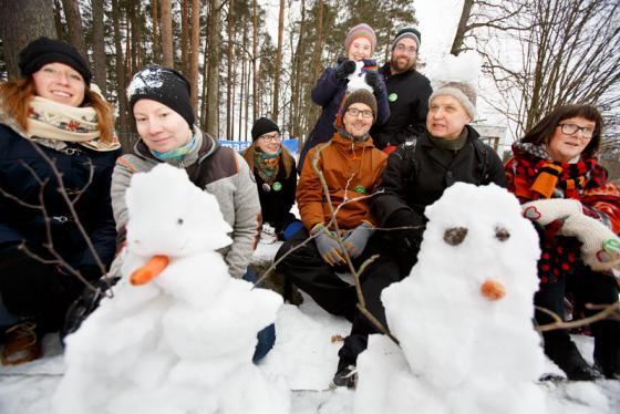 Lumiukkotempaus Jyväskylässä