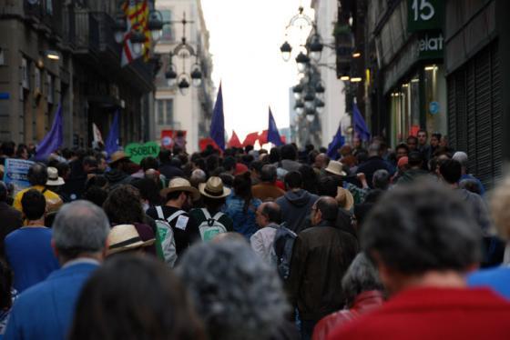 Mielenosoitus Barcelonassa