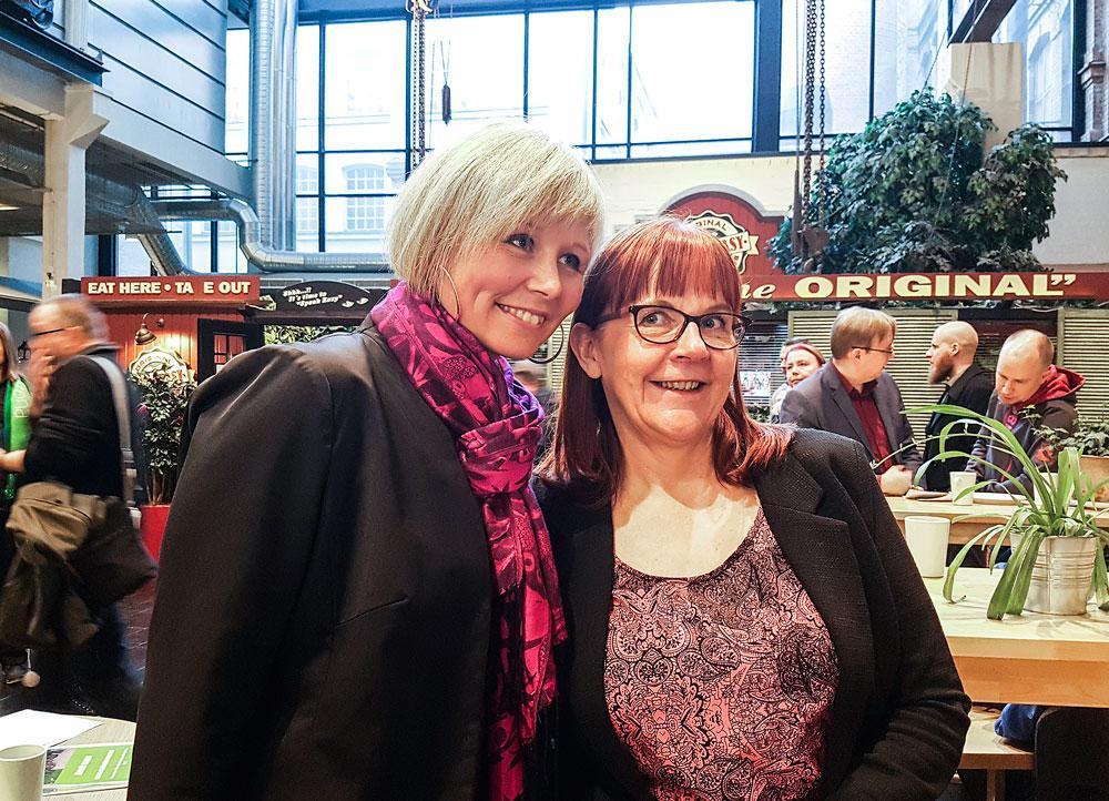 Anna-Kaisa Heinämäki ja Arja Rinneaho