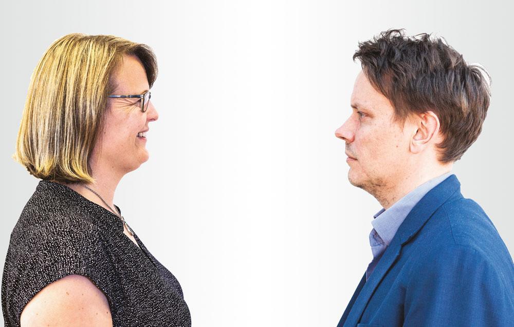 Sanna Vesikansa ja Lauri Korkeaoja