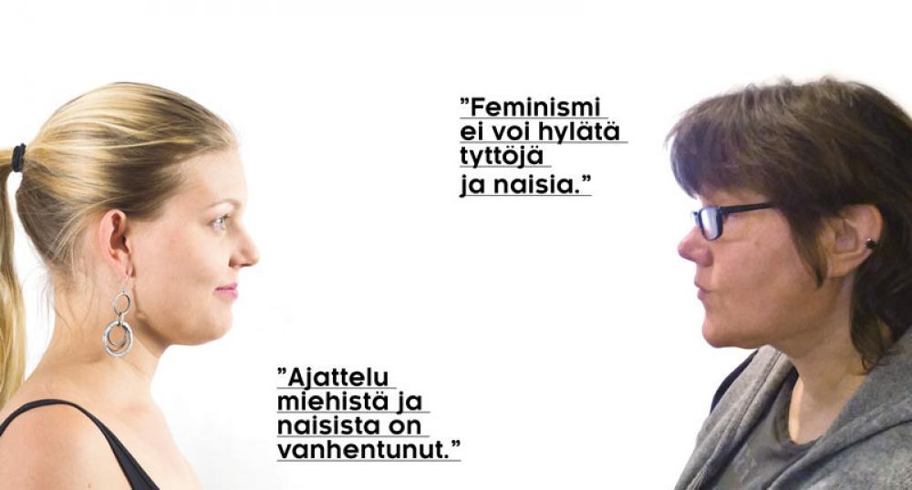 Olga Haapa-aho ja Leena Teräs