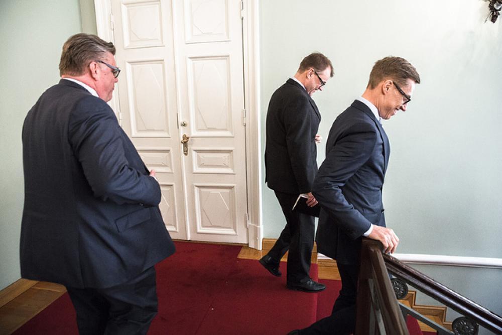 Timo Soini, Juha Sipilä, Alexander Stubb