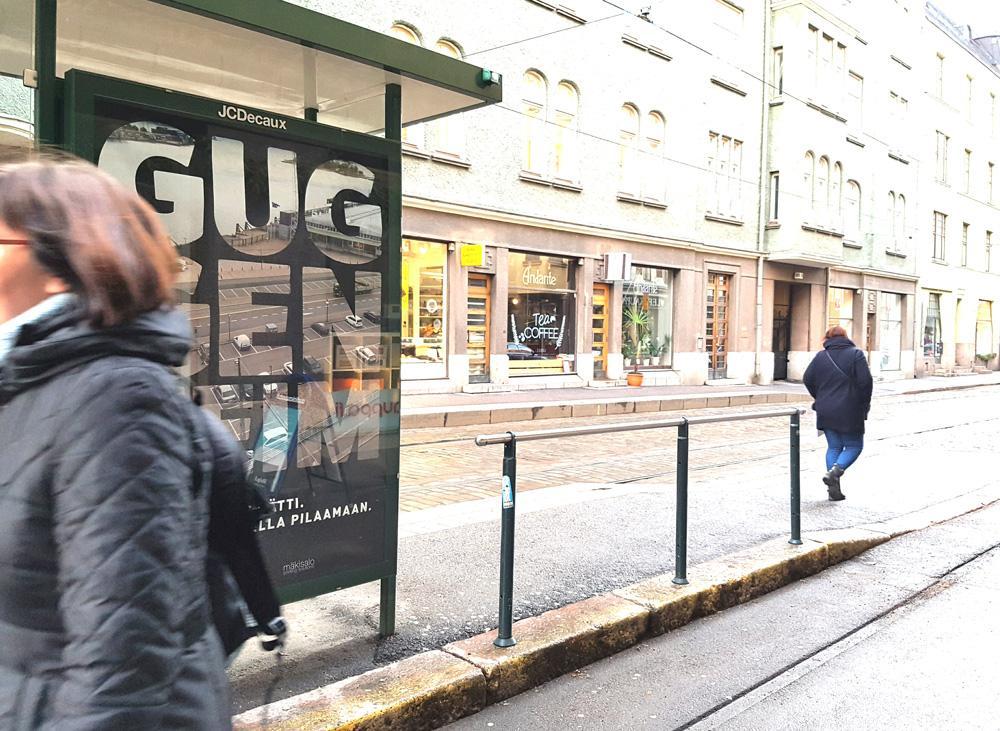 Guggenheim-mainos Fredrikinkadulla