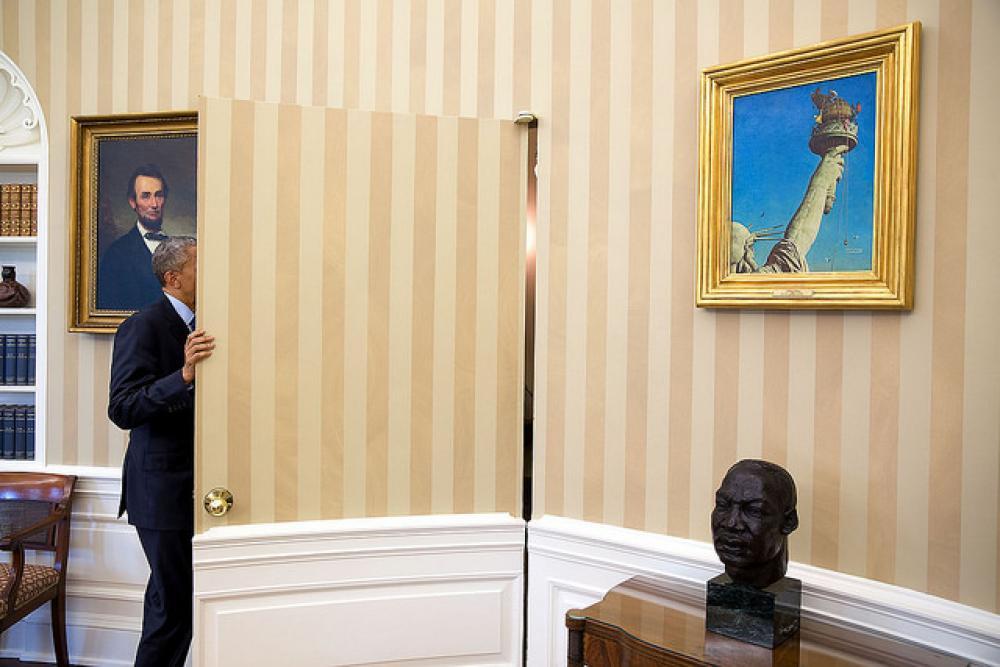 Obama Valkoisessa talossa