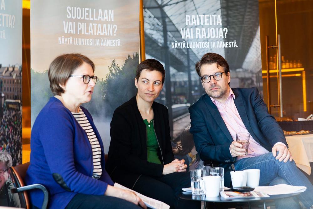 Heidi Hautala, Ska Keller ja Ville Niinistö