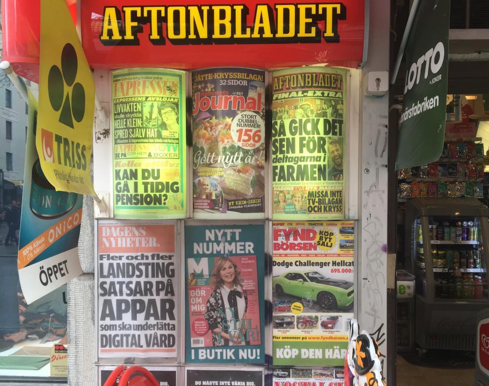 Ruotsalaisten lehtien lööppejä
