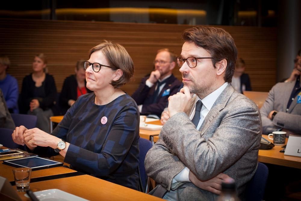 Ville Niinistö ja Heidi Hautala