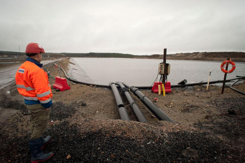 Talvivaaran kaivosaluetta vuonna 2013