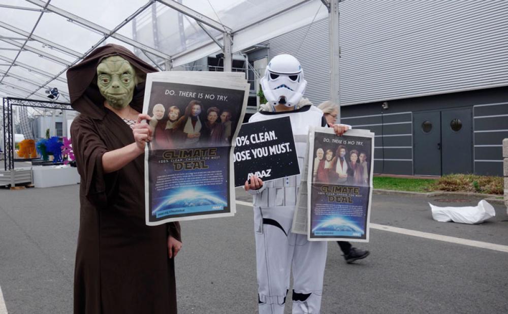 Star Wars -aktivistit Pariisin ilmastokokouksessa