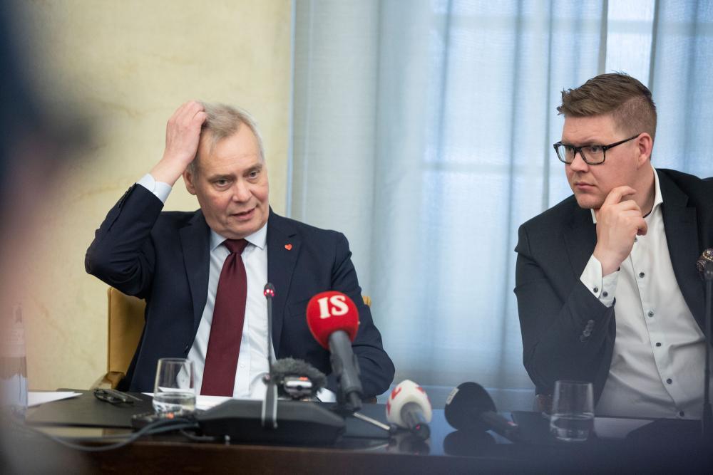 Antti Rinne ja Antti Lindtman