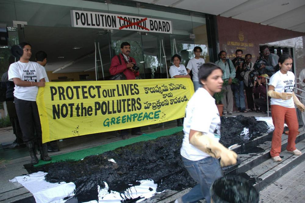 Greenpeacen mielenosoitus Intiassa