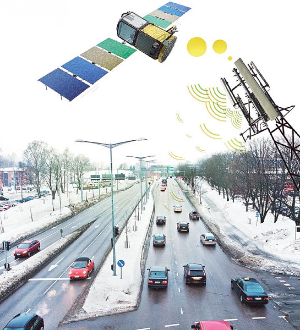 Kuvituskuva satelliittivalvonnasta.
