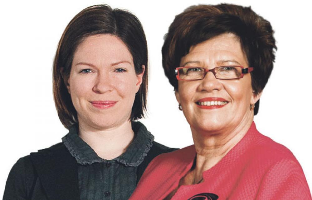 Anni Sinnemäki ja Sirkka-Liisa Anttila.