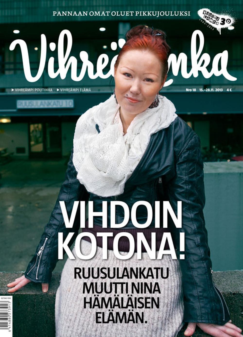Vihreän Langan kansi 18/13.
