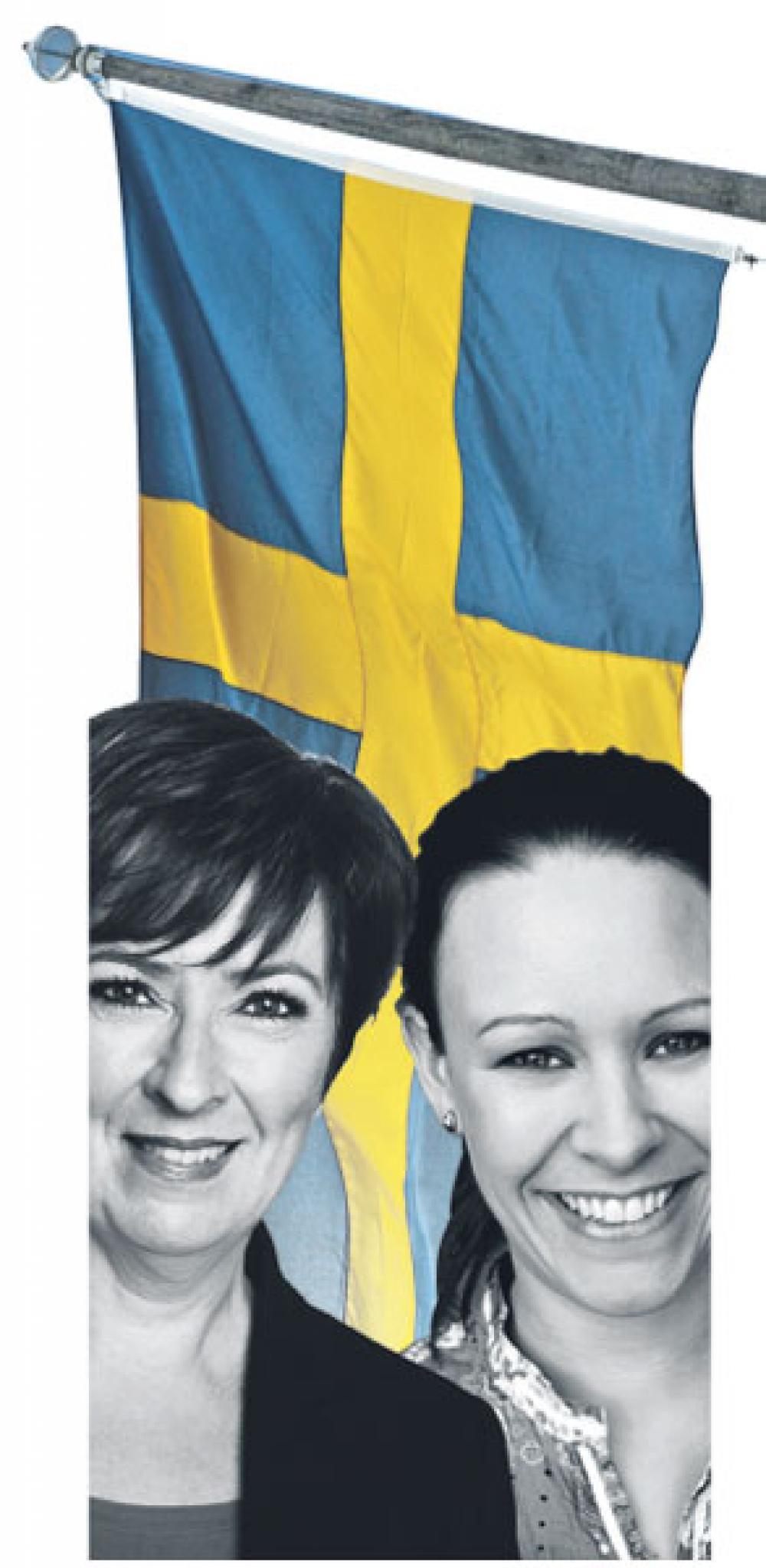 Mona Sahlin ja Maria Wetterstrand.