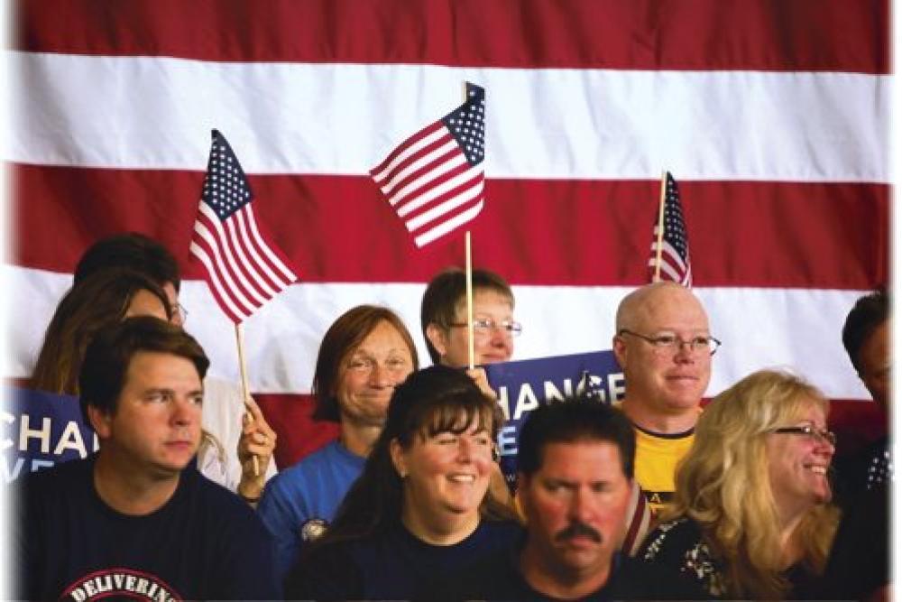 Amerikan lippuja.