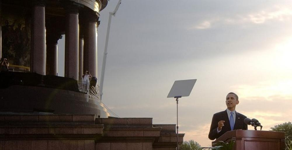 Barack Obama Berliinissä.
