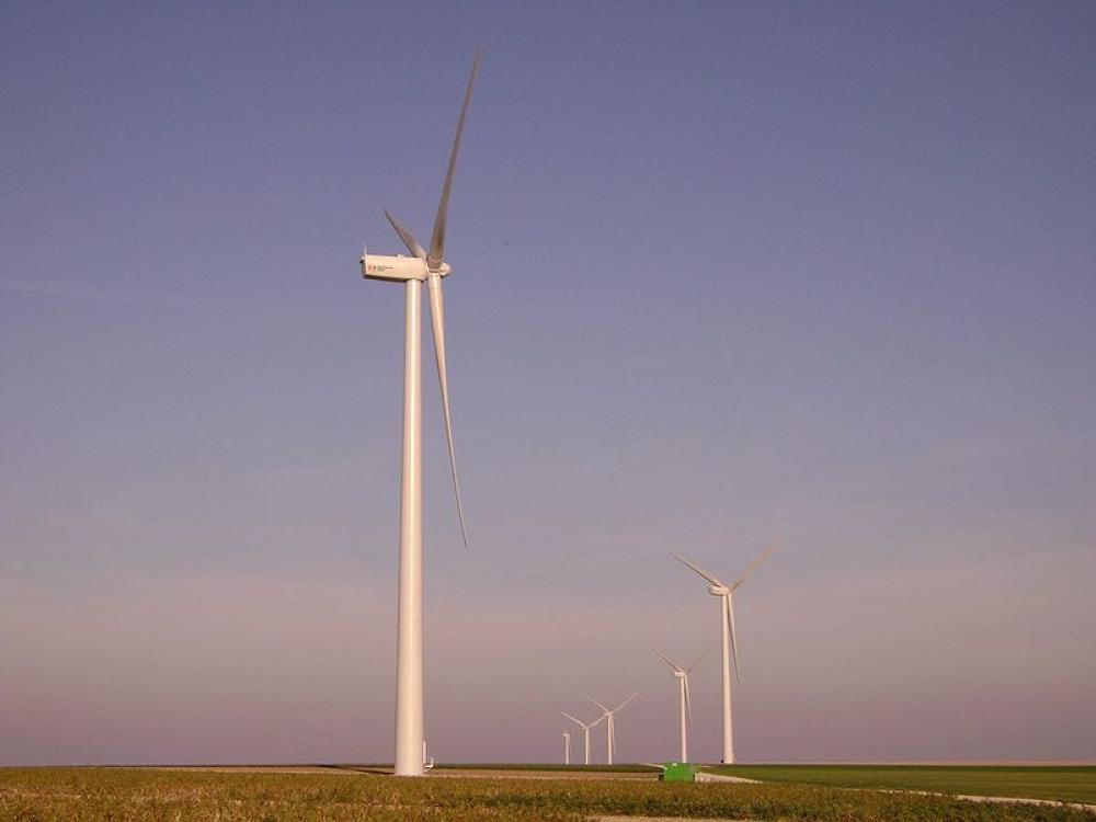 Tuulivoimapuisto Ranskassa.