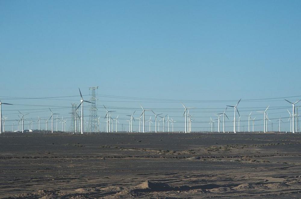 Gansun tuulivoimapuisto.