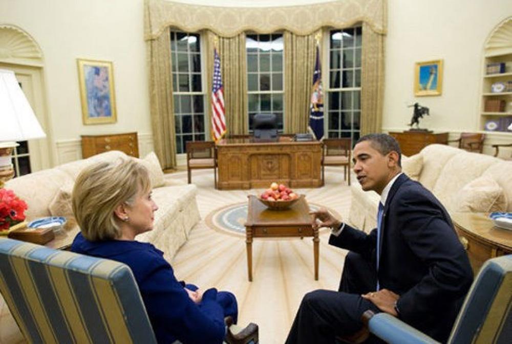 Hillary Clinton ja Barack Obama.