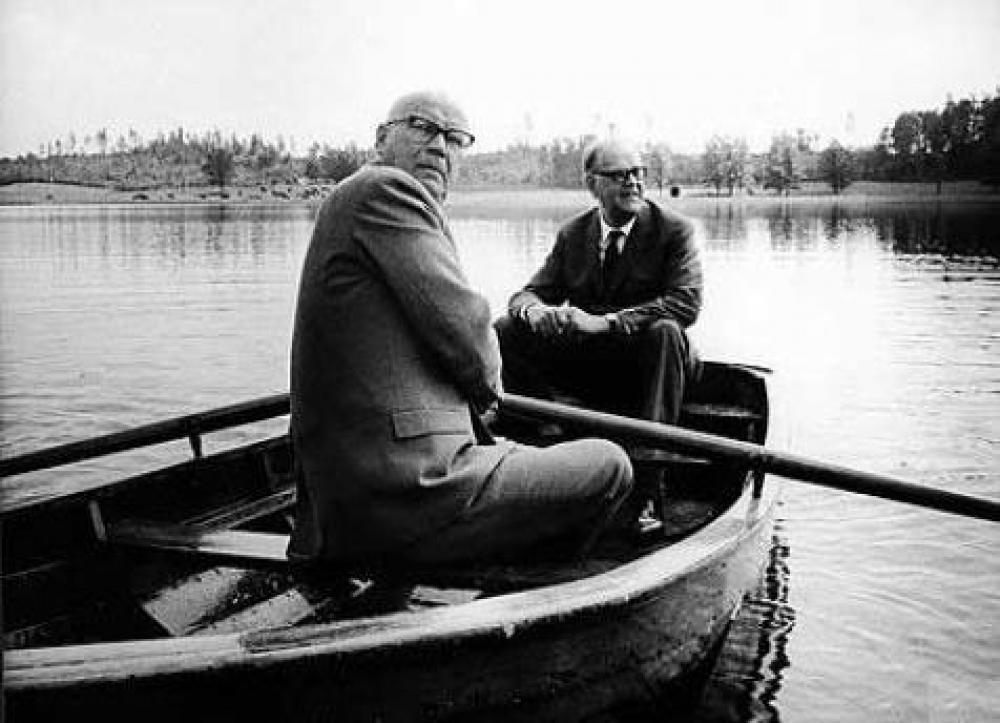 Urho Kekkonen ja Tage Erlander.