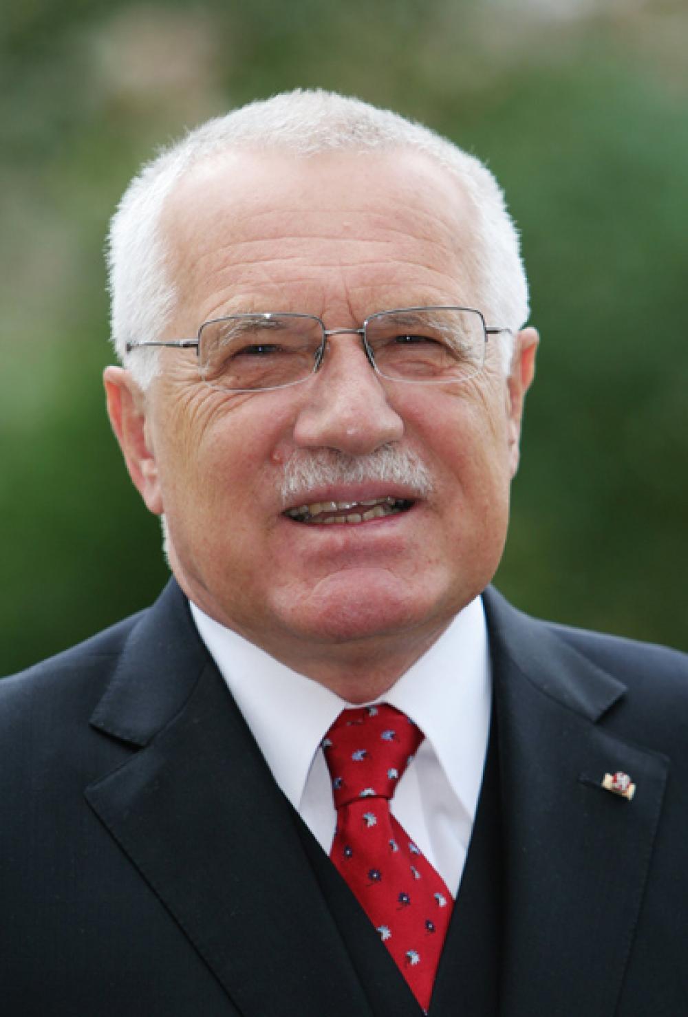 Tšekin presidentti Václav Klaus.