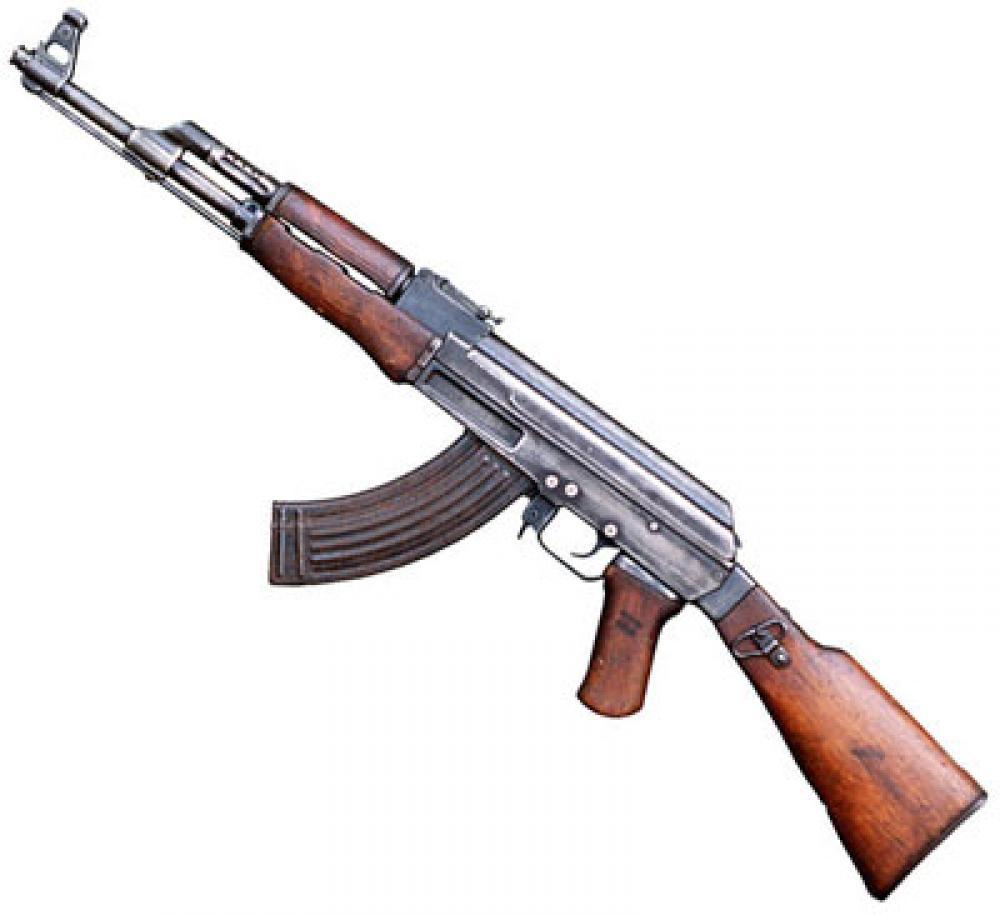 AK-47-rynnäkkökivääri.