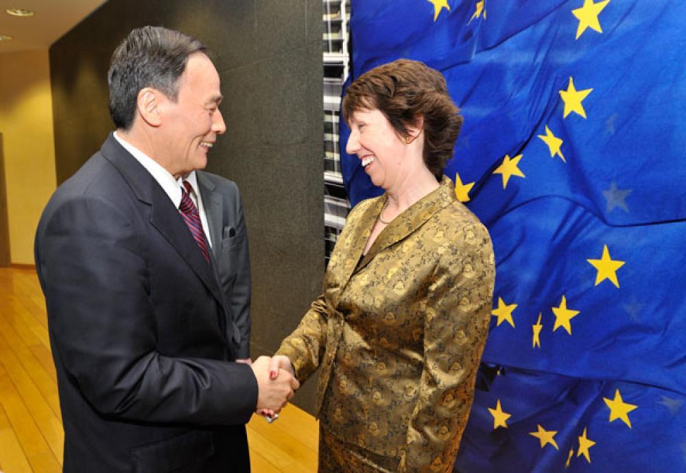 Catherine Ashton ja Kiinan varapääministeri.