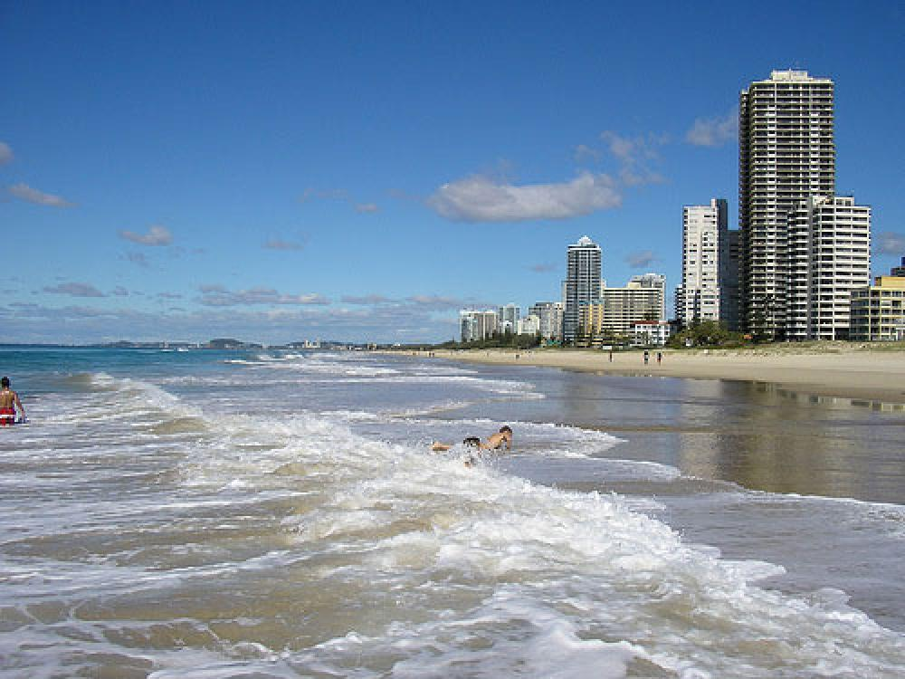 Uimarantaa Australiassa.