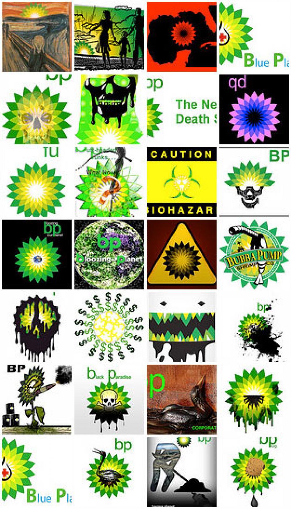 Greenpeacen BP-logoja.