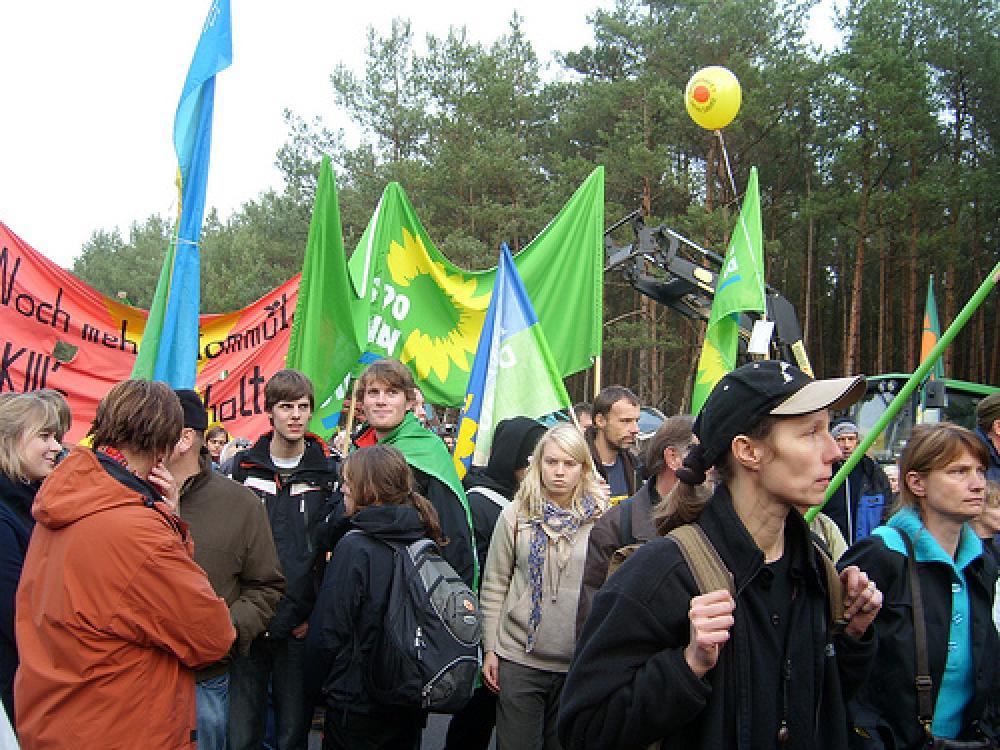 Mielenosoitus Gorlebenissä.