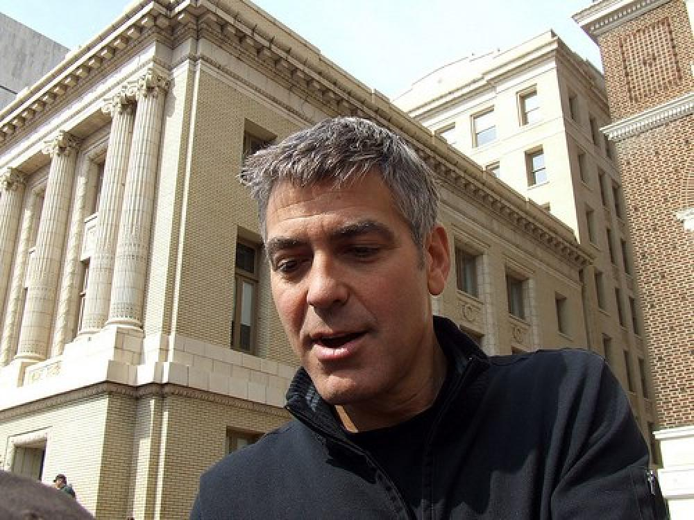 Näyttelijä George Clooney.