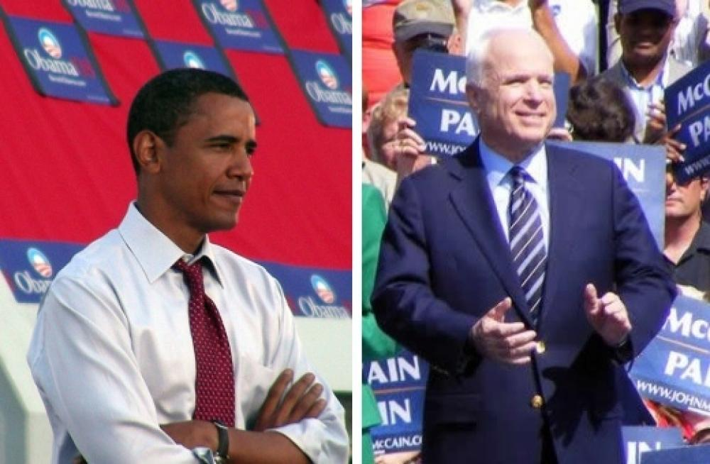 Obama ja McCain.