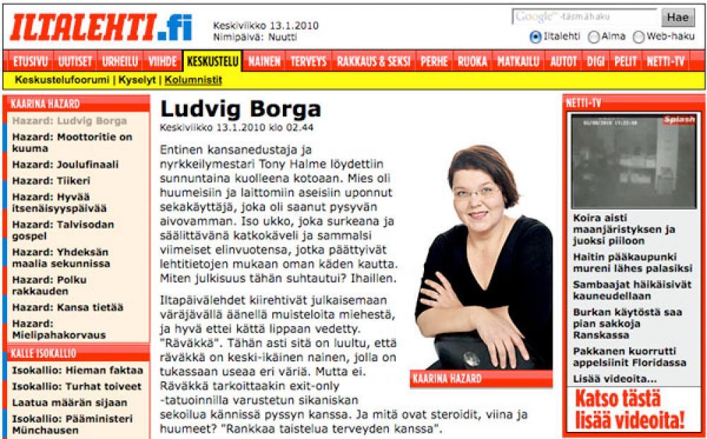 Katrina Hazardin -kolumni Iltalehden verkkosivuilla.