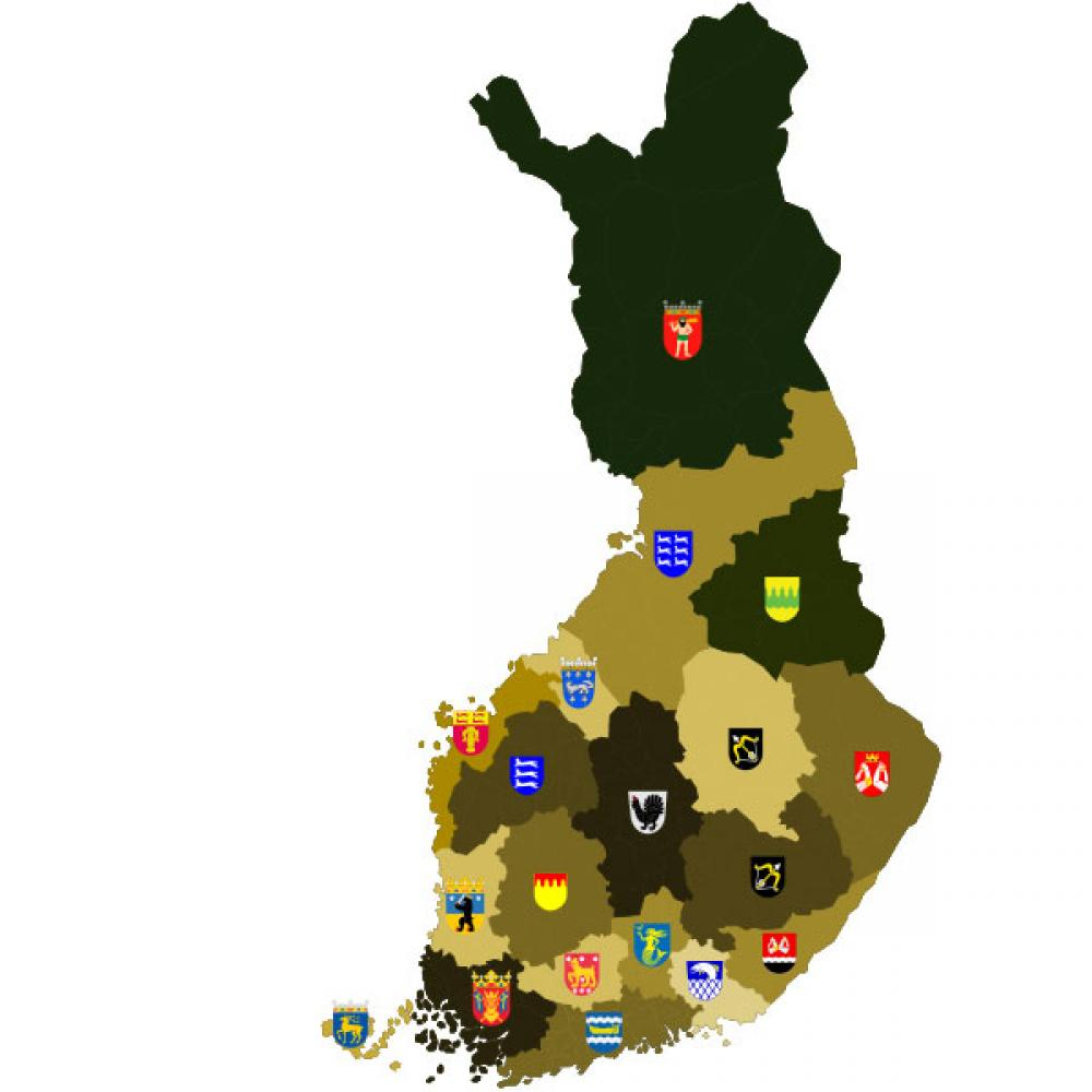 Suomen maakunnat.