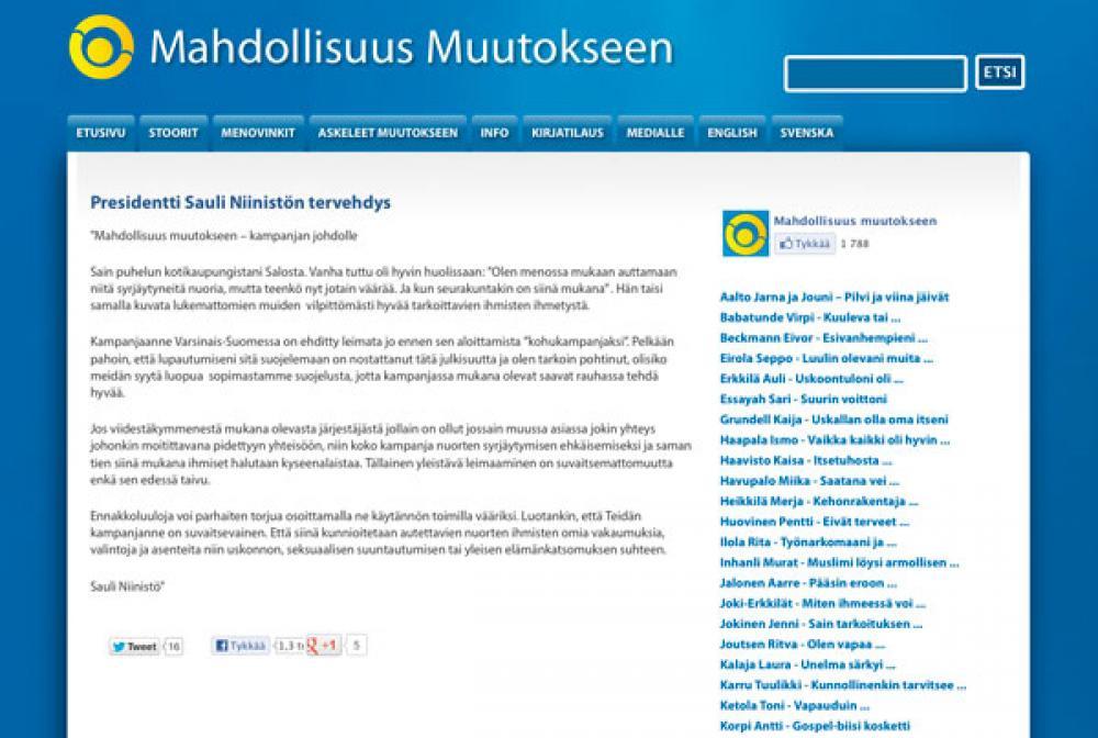 Mahdollisuus Muutokseen -sivusto.