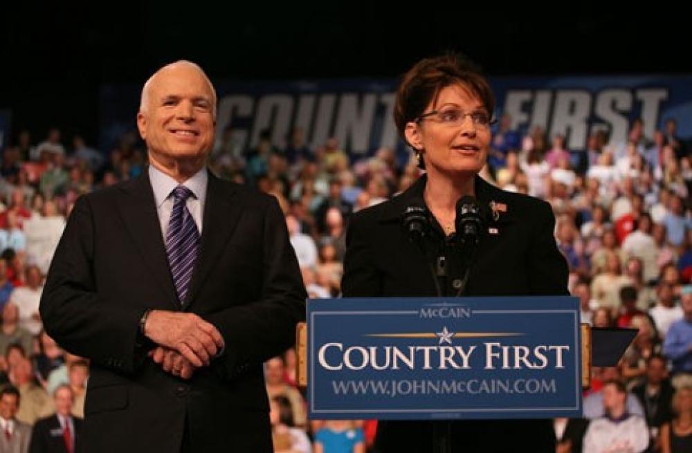 John McCain ja Sarah Palin.