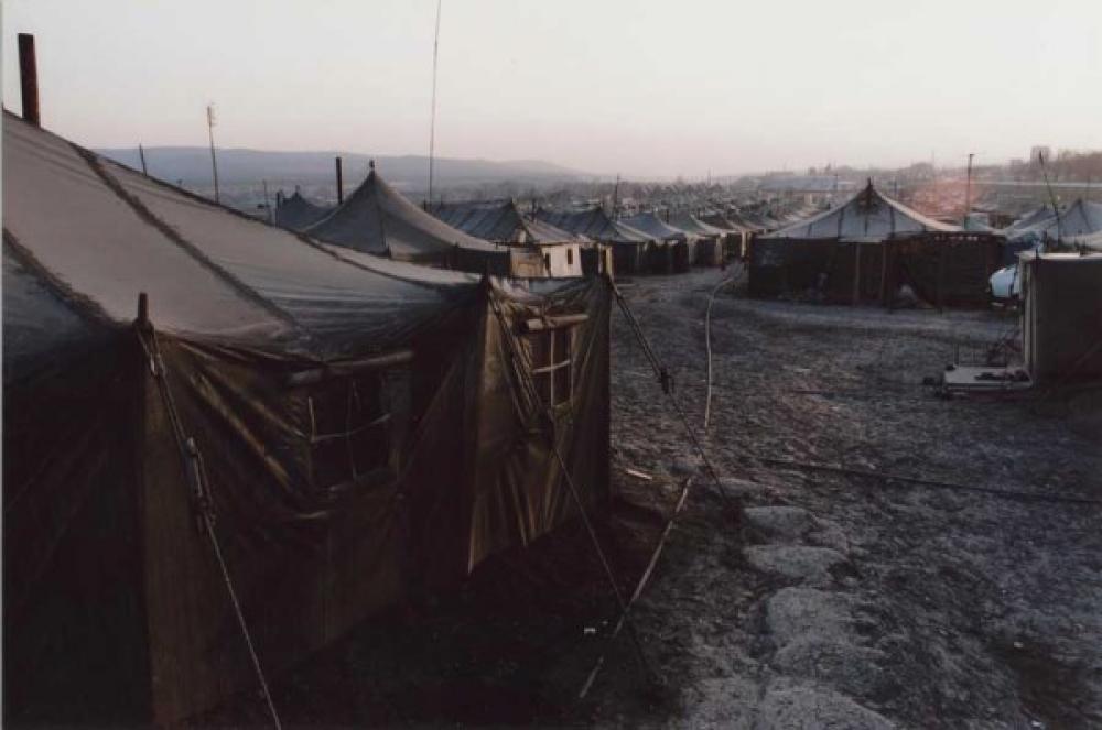 Pakolaisleiri.