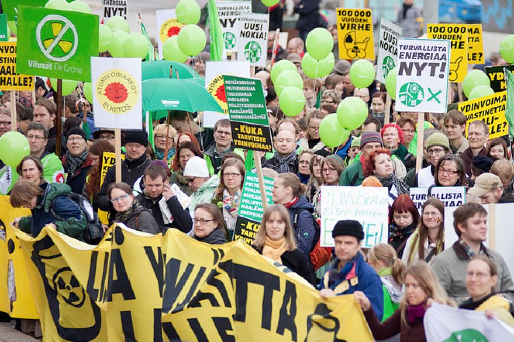 Ydinvoimavastainen mielenosoitus.