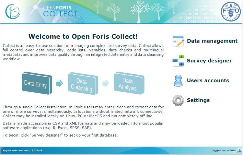 Open Foris -kuvakaappaus.