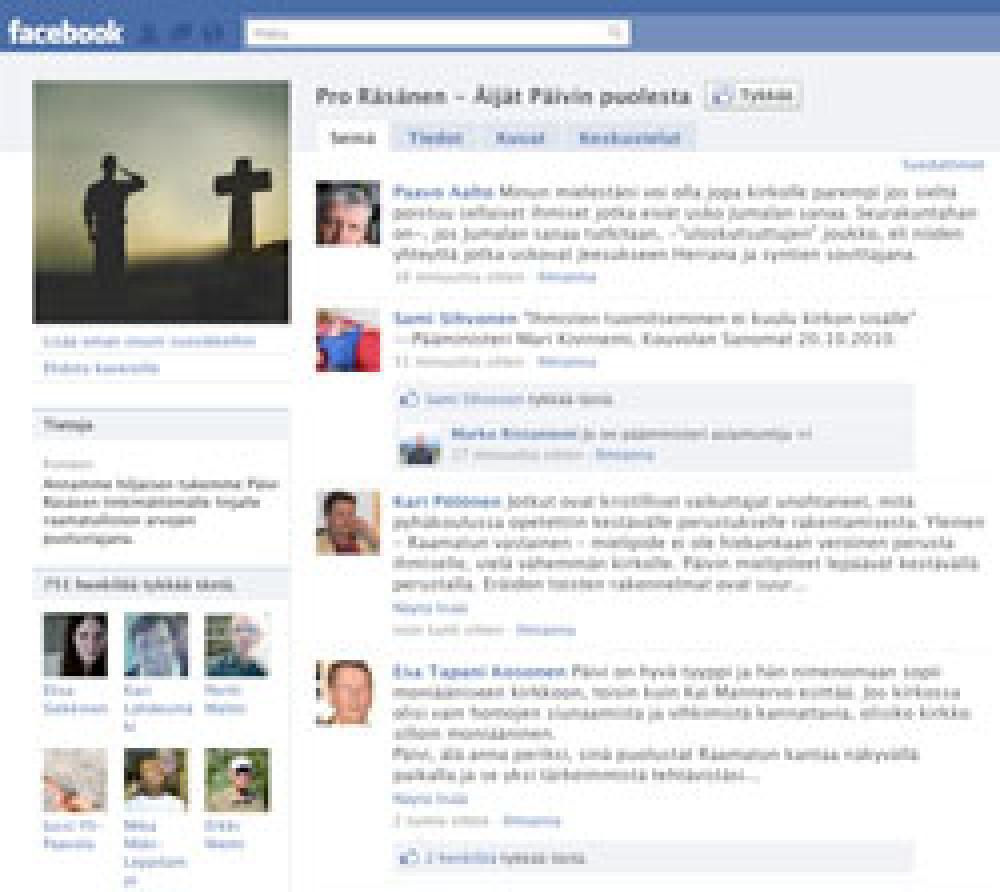 Facebook-sivu.