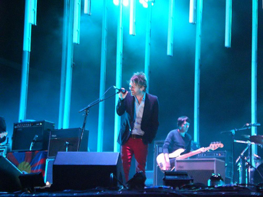 Radioheadin keikka kesällä 2008.